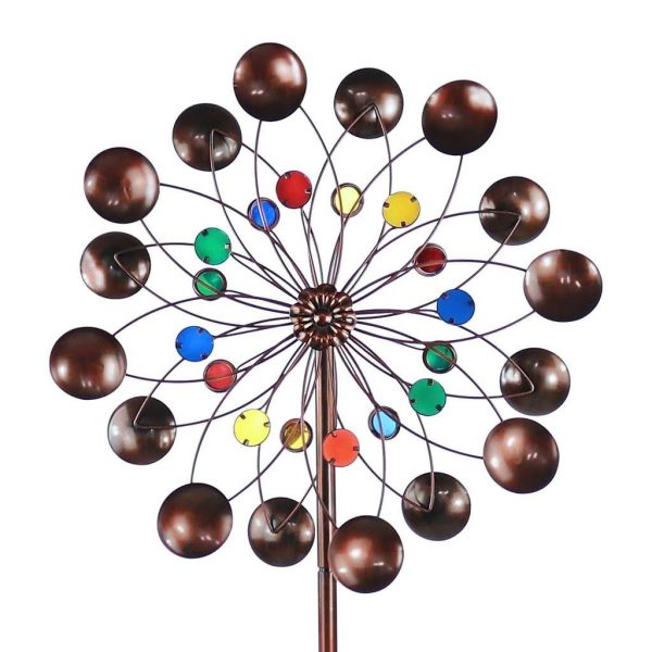 Best Metal Round Colorful Yard Spiral Wind Spinners