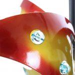 Скульптуры спиннеров ветра спирали бабочки 3Д вися с солнечными светами
