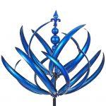 Sculture di ornamenti di girandole a vento a spirale in metallo per esterni