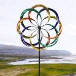 Открытый двор Custom Rainbow Flower Wind Spinner